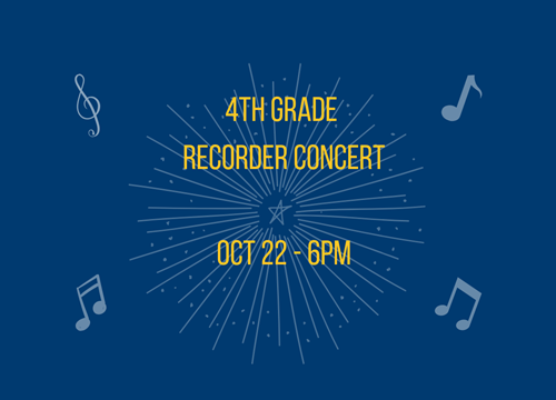 4th Grade Recorder Concert
