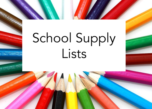 2019-2020 Supply Lists - Wilmore Elementary School