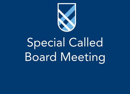 special called board meeting
