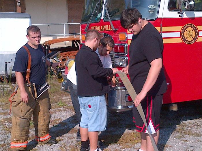 The new fire safety class in action!