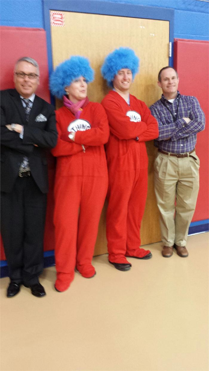 Thing 1 and Thing 2 with Mr. Castle & Mr. Moore