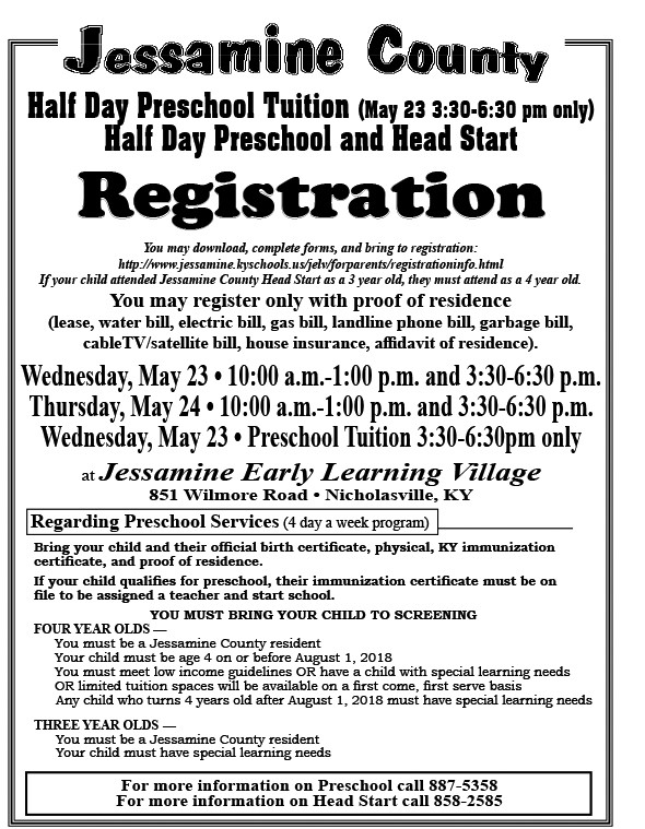 JELV Preschool Information - East Jessamine Middle School